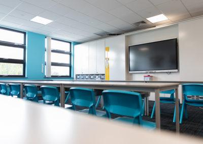 New school classroom photograph