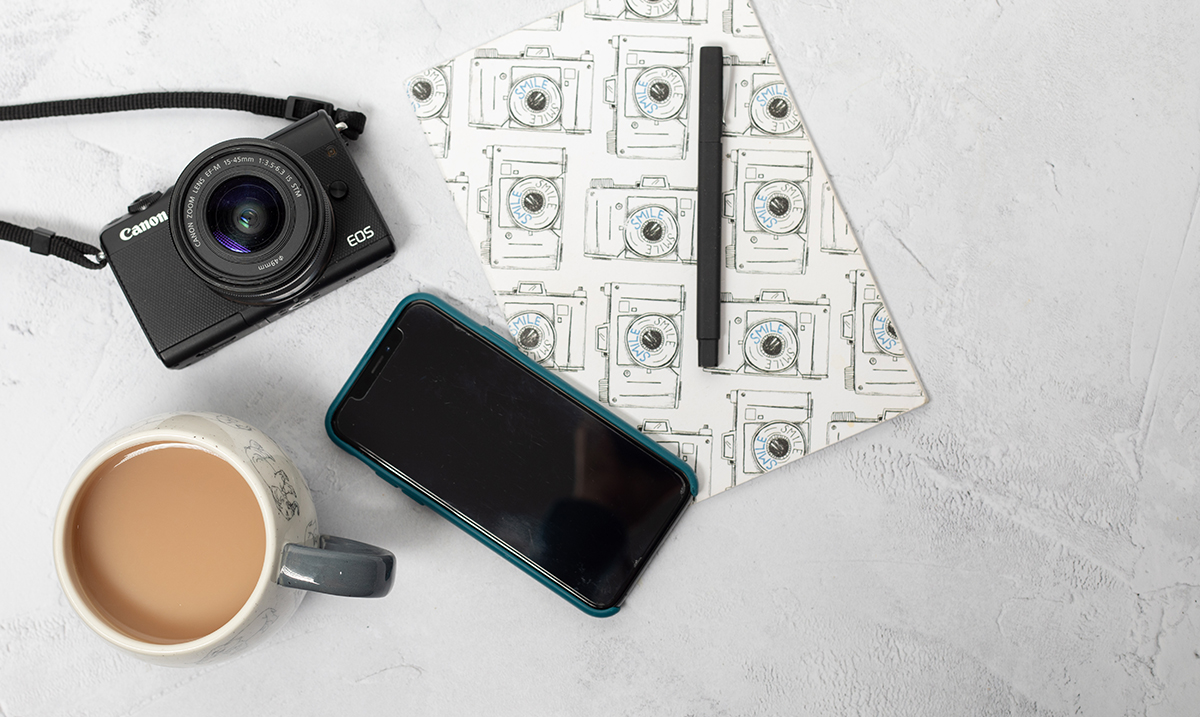 Phone, camera and a cuppa