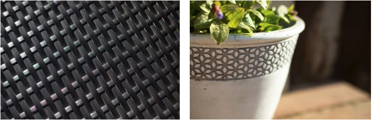Photos of patterns on objects