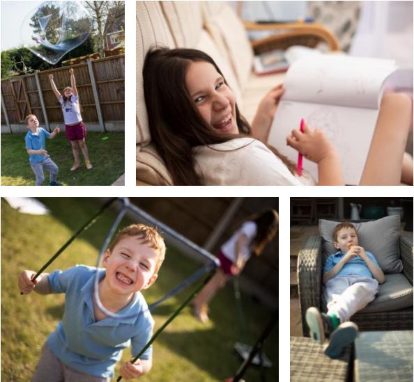 Photos of portraits of children