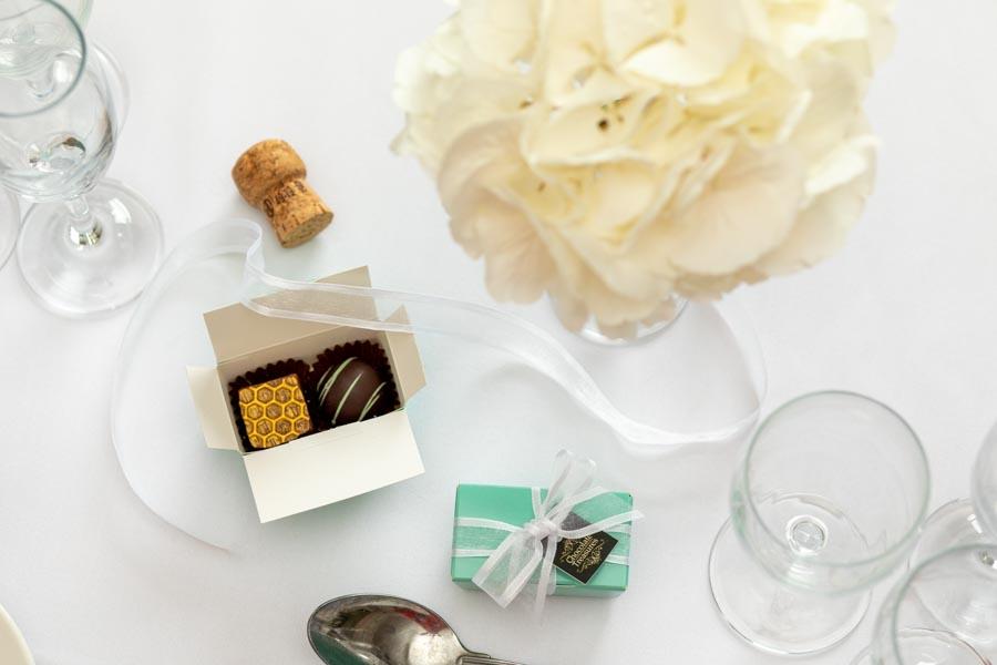 chocolates on a table